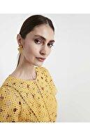 İpekyol Kadın Açık Sarı Güpür Elbise