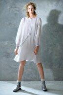 Yargıcı Kadın Açık Gri Yakasız Elbise 0KKEL7002X