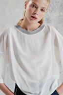 Yargıcı Kadın Kırık Beyaz Bisiklet Yakalı Bluz 0KKGM6060X