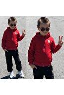 Nazar Kids Klasik Kırmızı Erkek Çocuk Eşofman Takımı
