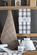 LADYNİL Mutfakpeçetesi Seti 6 Lı Kahve 45x65