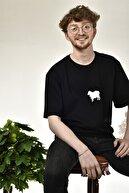 Black Ewe Unısex Siyah Baskılı Geniş Kalıp T-shirt