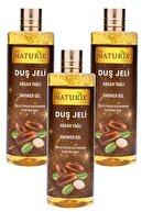 Ilgaz Naturix Organix Cilt Pürüzsüzleştirici Natural Argan Yağ Duş Jeli Eko Paket 400 Ml 3'lü Banyo Jeli