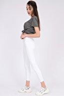 vayro Kadın Beyaz Kot Yüksek Bel Jean