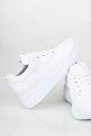 Modabuymus Dolgu Topuklu Beyaz Sneaker Baskılı Spor Ayakkabı - Mildy