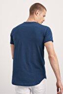 Tarz Cool 3lü Paket Beyaz Siyah Lacivert Pis Yaka Salaş T-shirt