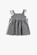 Koton Kız Bebek Kareli Elbise Fiyonklu