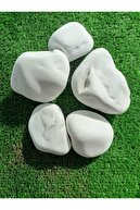 Ekodoğa Beyaz Dolomit 50 Kg 4-6 Cm Taş Dekoratif Taş Dere Taşı Bahçe Süs Taşı Dolamit Loche