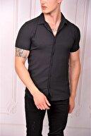 MODAFE Erkek Kısa Kol Salaş Yazlık Gömlek