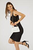 Etka Çanta Kadın Beyaz Nakışlı Mini Gissle Çanta