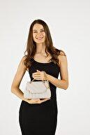 Etka Çanta Kadın Gri Nakışlı Mini Gissle Çanta