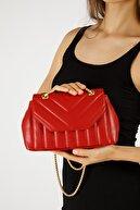 Etka Çanta Kadın Kırmızı Nakışlı Mini Gissle Çanta