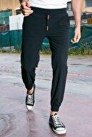 Sateen Men Erkek Siyah Bileği Lastikli Jogger Pantolon