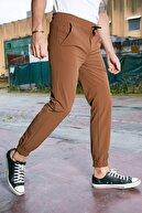 Sateen Men Erkek Taba Bileği Lastikli Jogger Pantolon