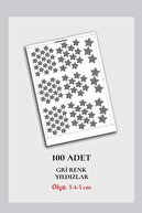 Norm Design Duvar Sticker 100 Adet Gri Yıldızlar