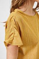 Koton Kadın Hardal T-Shirt 0YAK18271CK