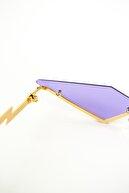 Surge Lila Gözlük Üçgen Kesim Tasarım Şık