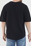 bombe Erkek Oversize Basic Tişört Siyah