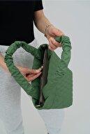 Shule Bags Zik Zak Desenli Kabartmalı Puf Çanta Steven Yeşil