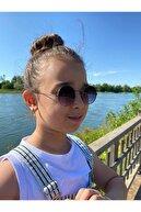 La Viva Unısex 4-8 Yaş Yuvarlak Çocuk Güneş Gözlüğü Kutusu Silme Bezi
