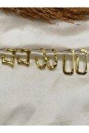 Eylülün Takısı Altın Renk 3 Çift Vintage Halka Küpe