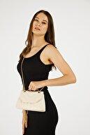 Etka Çanta Kadın Krem Nakışlı Mini Gissle Çanta