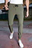 Sateen Men Erkek Haki Bileği Lastikli Jogger Pantolon