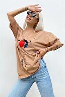 SwistLuxury Vizon Satürn Baskılı Tshirt