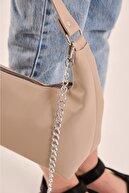 Shule Bags Kadın Zincirli Baget Çanta Madison Bej