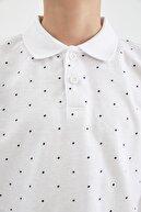 Defacto Erkek Çocuk Desenli Polo Yaka Kısa Kol Tişört
