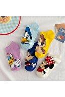 CARNAVAL SOCKS 5 Çift Sevimli Karakterler Desenli Kadın Patik Çorap