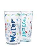 Mudo Concept Water Yazılı Bardak 570 ml 2'li Set Summer Edıtıon