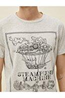 Koton Erkek Gri Baskılı T-Shirt