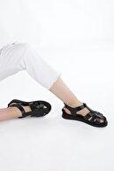 Marjin Kadın Hakiki Deri Sandalet Olinsiyah