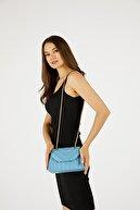 Etka Çanta Kadın Mavi Nakışlı Mini Gissle Çanta