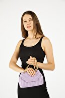 Etka Çanta Kadın Lila Nakışlı Mini Gissle Çanta