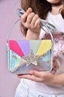 ICONE BAG Icone Kız Çocuk Gökkuşağı Renkli Cırt Kapamalı Omuz Çantası
