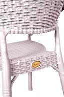 hesapli Rattan Bambu Koltuk Bej- Plastik Bahçe Sandalyesi 6 Adet