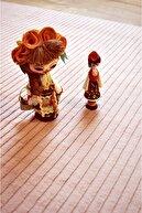 Tappeto Pudra Çizgi Desenli Post Peluş Halı