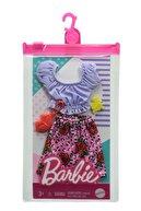 Barbie 'nin Kıyafet Koleksiyonu Mor Üst Güllü Etek Grb96