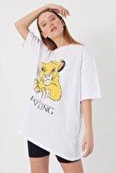 blackjack giyim Blackjackgiyim Beyaz Lionking Oversize Tshirt