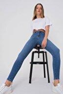 Addax Kadın Kot Rengi Cep Detaylı Jean Pantolon Pn7193 - Pnn Adx-0000023721