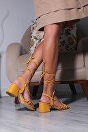 Julude Bilek Bağlamalı Kadın Topuklu Sandalet