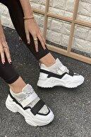 İnan Ayakkabı Kadın Beyaz&Gri Ayakkabı&Sneaker INASPORT10