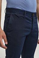D'S Damat Slim Fit Lacivert Chino Pantolon
