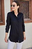 armonika Kadın Siyah Tunik Gömlek ARM-19Y001003