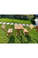 ELİSRA Bahçe Masa Sandalye Seti Bistro
