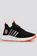 Freemax Siyah F. Orange Unisex Ortopedik Spor Sneaker Ayakkabı