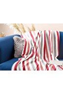 English Home Stripe Polar Tv Battaniye 120x170 Cm Gül Kurusu