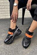 İnan Ayakkabı Kadın Siyah&Turuncu Ayakkabı&Sneaker INASPORT10